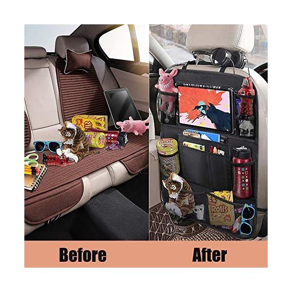 61tEgosfahL Awroutdoor Auto Rückenlehnenschutz, 2 Stück Wasserdicht Auto Rücksitz Organizer für Kinder,Rücksitzschoner Kick-Matten…