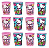 Lot of 12 Hello Kitty 16oz Party Plastic Cup ~Party Favor Supplies~