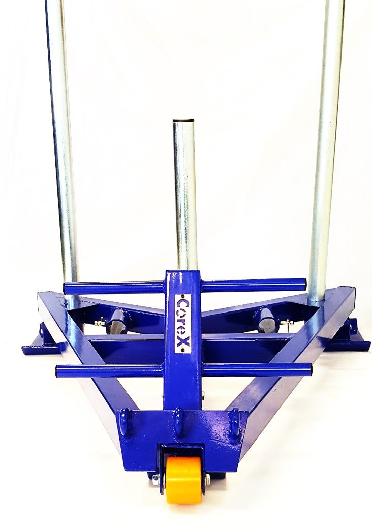 CoreX Functional Fitness Gym Sled - Revolutionary Wheel and Ski at Front. ''V'' Back - no more hitting shins. This changes everything!