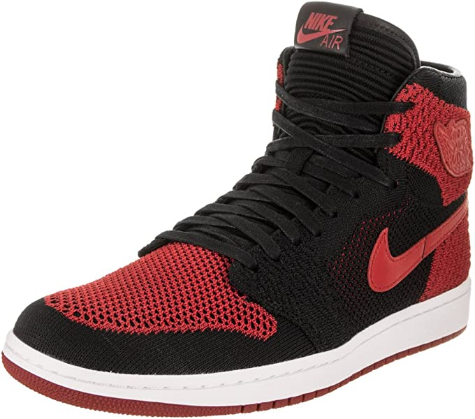 new products 9c1dd 8216c Nike Air Jordan 1 Retro Hi Flyknit 919704 001 Men s Basketball Shoes (9.5)