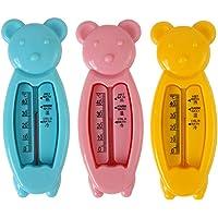 3PCS Termómetro de baño para bebés y termómetro flotante para bañera de juguete y termómetro para piscina, termómetro de temperatura de seguridad para juguetes flotantes para bebés para bebés