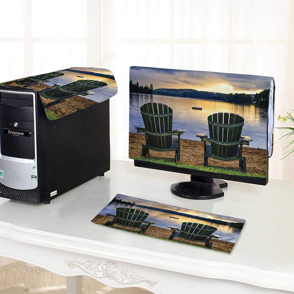 Jiahonghome コンピューターカバー 3ピース シーサイドロッキーストーン アーチ ニスシーコースト ライト 帯電防止 防水 17インチ W28