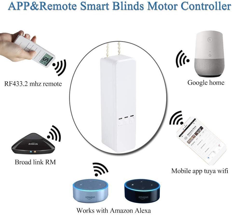 BENEXMART WiFi Tuya WiFi Roller Shade Driver DIY Roller Shutter Motor Alexa Google Assistant Voice Control WiFi