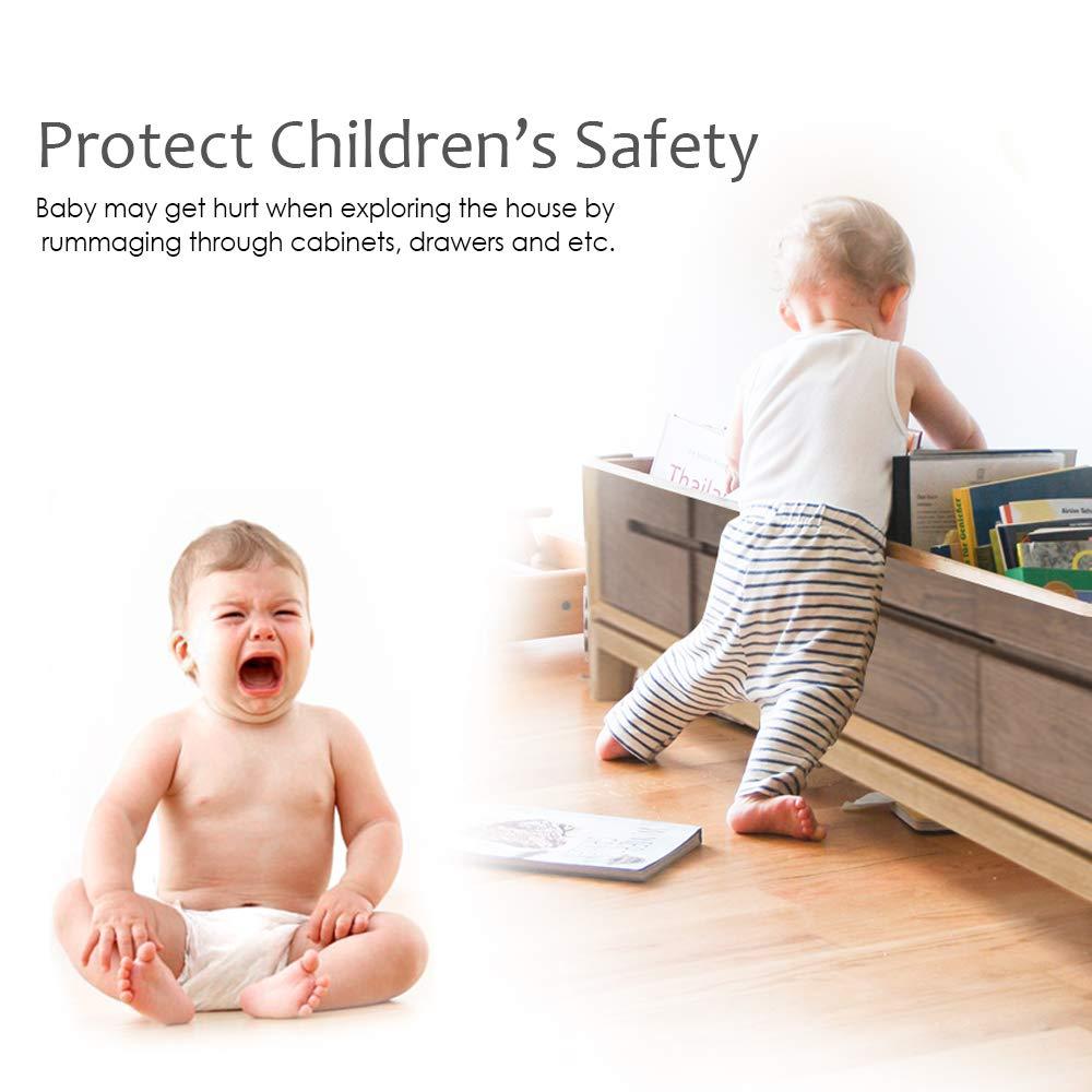 Cabinet Locks Child Safety Amazing for Baby Proofing Kitchen /& Child Locks 12 Pack + 3 Keys Smiling Wolf Magnetic Baby Safety Cabinet Locks | 3M Adhesive White Quality Design