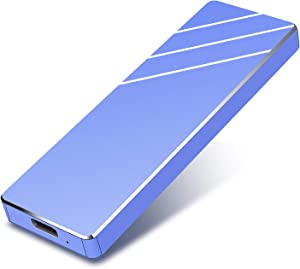 External Hard Drive HDD USB3.1 2TB External Hard Drive for PC, Mac, Desktop, Laptop, MacBook, Chromebook, Xbox One, Xbox 360 (2TB, Blue)
