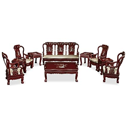 amazon com chinafurnitureonline rosewood living room set imperial rh amazon com  chinese rosewood living room furniture