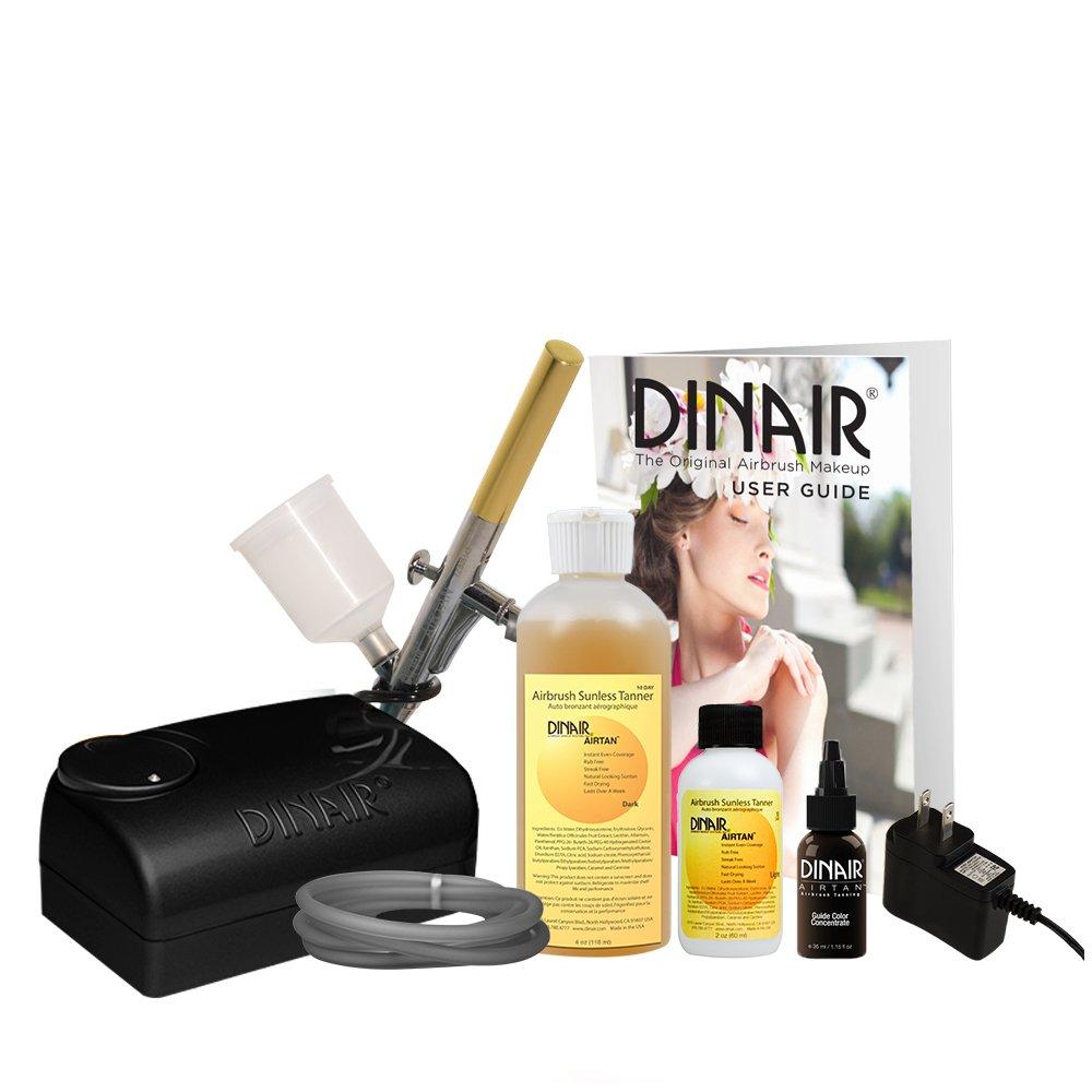 Dinair Airbrush Airtan Tanning System Kit | Dark Solution by Dinair