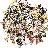 Hojas Caladas Accesorios Colgantes Hoja joyer/ía de bricolaje para la pulsera collar pendientes Plata Antigua,Plata,Oro,Oro Rosa,Bronce 75 Piezas DIY Accesorios Colgante para Hacer Collar
