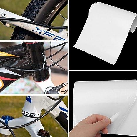 Fahrrad Schutzfolie 15cm Breit Fahrrad Rahmen Aufkleber Anti Schmutzig Anti Verschleiß Lackschutzfolie Sport Freizeit