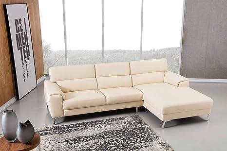Amazon.com: Greatime S2202 - Sofá de piel auténtica, diseño ...