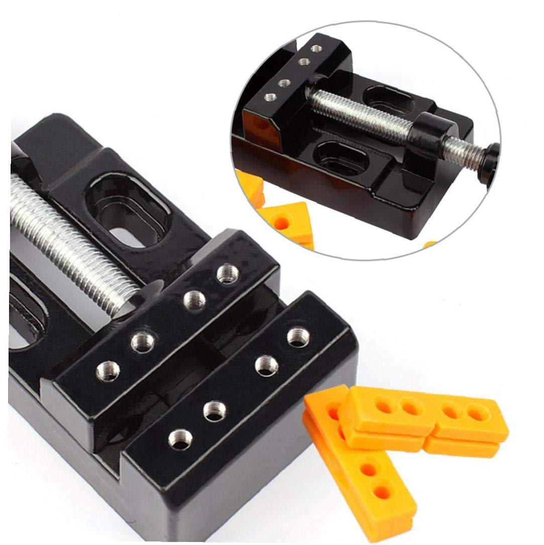 Aluminum Alloy Mini Flat Clamp Table Jaw Bench Clamp Drill Press Vice Opening Table Vise Universal Mini Bench Vise Clamp Carving Fixed Tools 1 Set