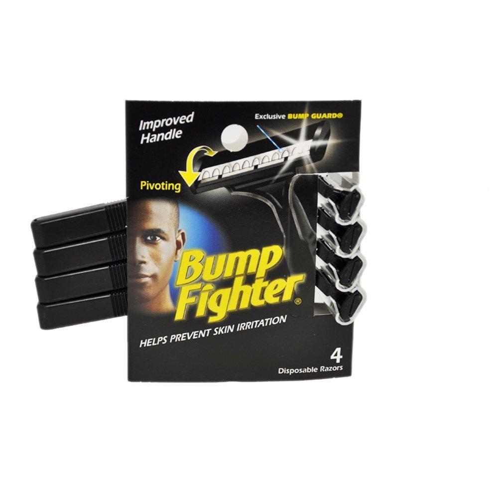 Bump Fighter Mens Disposable Razors Mens - 4 Per Packs (3 Pack)