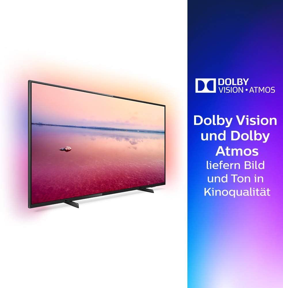 Philips 65PUS6704/12 - Televisor Smart TV LED 4K UHD, 65 pulgadas, Ambilight 3 lados, HDR 10+, Dolby Vision, Dolby Atmos, color negro: Amazon.es: Electrónica