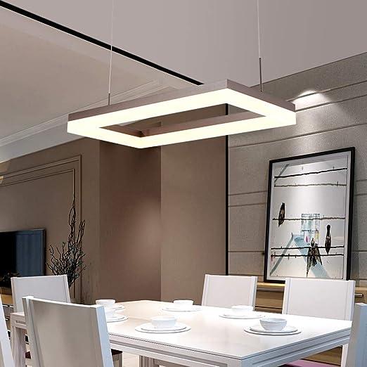 Lámpara colgante LED Mesa de comedor infinitamente regulable ...