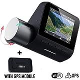 70mai Smart Dash Cam Pro with GPS Module, 2K+ QHD Recording, IMX335 Sensor, Built-in Wi-Fi, Emergency Recording, Voice & App Control, G-Sensor, WDR, Parking Monitoring