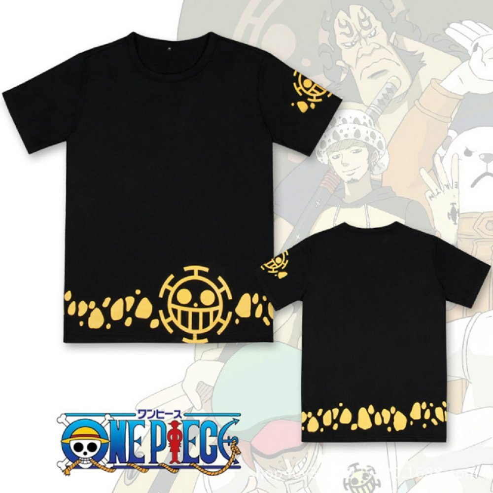 3bf24acad Amazon.com: GK-O Anime One Piece Trafalgar Law Short Sleeve T-Shirt Cosplay  Costume: Clothing