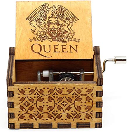 Siqi Queen Caja de música de Madera Antigua Tallada Caja Musical ...