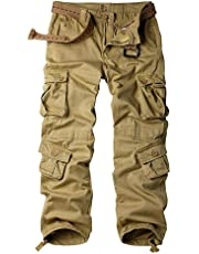 Alfiudad Women's Tactical Pants, Cotton Casual Cargo Work Pants Combat Trousers 8 Pockets