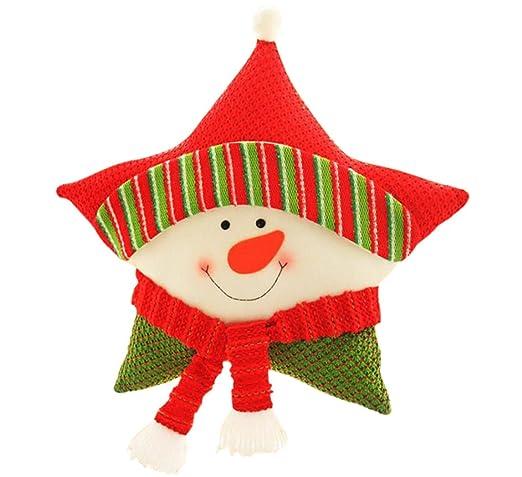 Vlunt estrella con cinco puntas almohada Navidad cojín de ...