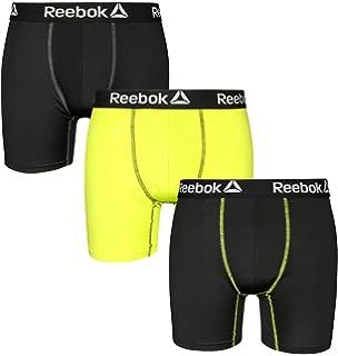 e4f34478ce8832 Reebok Mens 3 Pack Performance Quick Dry Moisture Wicking Boxer Briefs