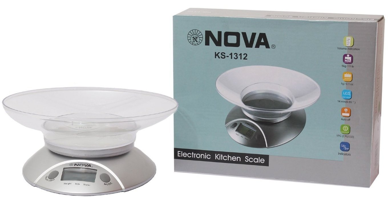 Buy Nova Digital Kitchen Weighing Scale - 5kg Capacity Touch Button ...