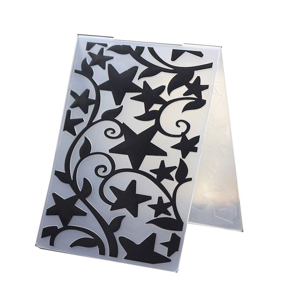 #5 Plastic Embossing Folder DIY Cutting Dies Stencils Template Molds Scrapbook Paper Crafts Cards Decor DIY Mould