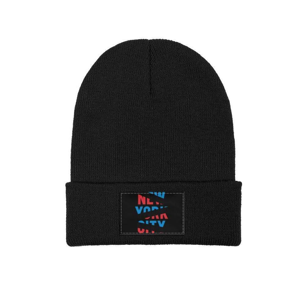 Mens Slouchy Beanie Hat Cashmere Hats Large New York City Vintage Color Art Ski Cap