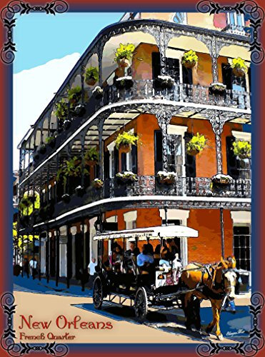 - A SLICE IN TIME French Quarter New Orleans Louisiana United States of America Travel Advertisement Art Poster Print. Poster measures 10 x 13.5 inches