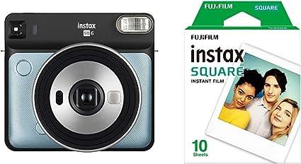 Fotocamera Analogica Istantanea Fujifilm Instax Square SQ6 Aqua Blue