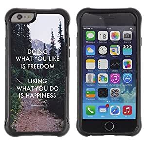 Suave TPU GEL Carcasa Funda Silicona Blando Estuche Caso de protección (para) Apple Iphone 6 PLUS 5.5 / CECELL Phone case / / Freedom Liking Do Happiness Inspiring /