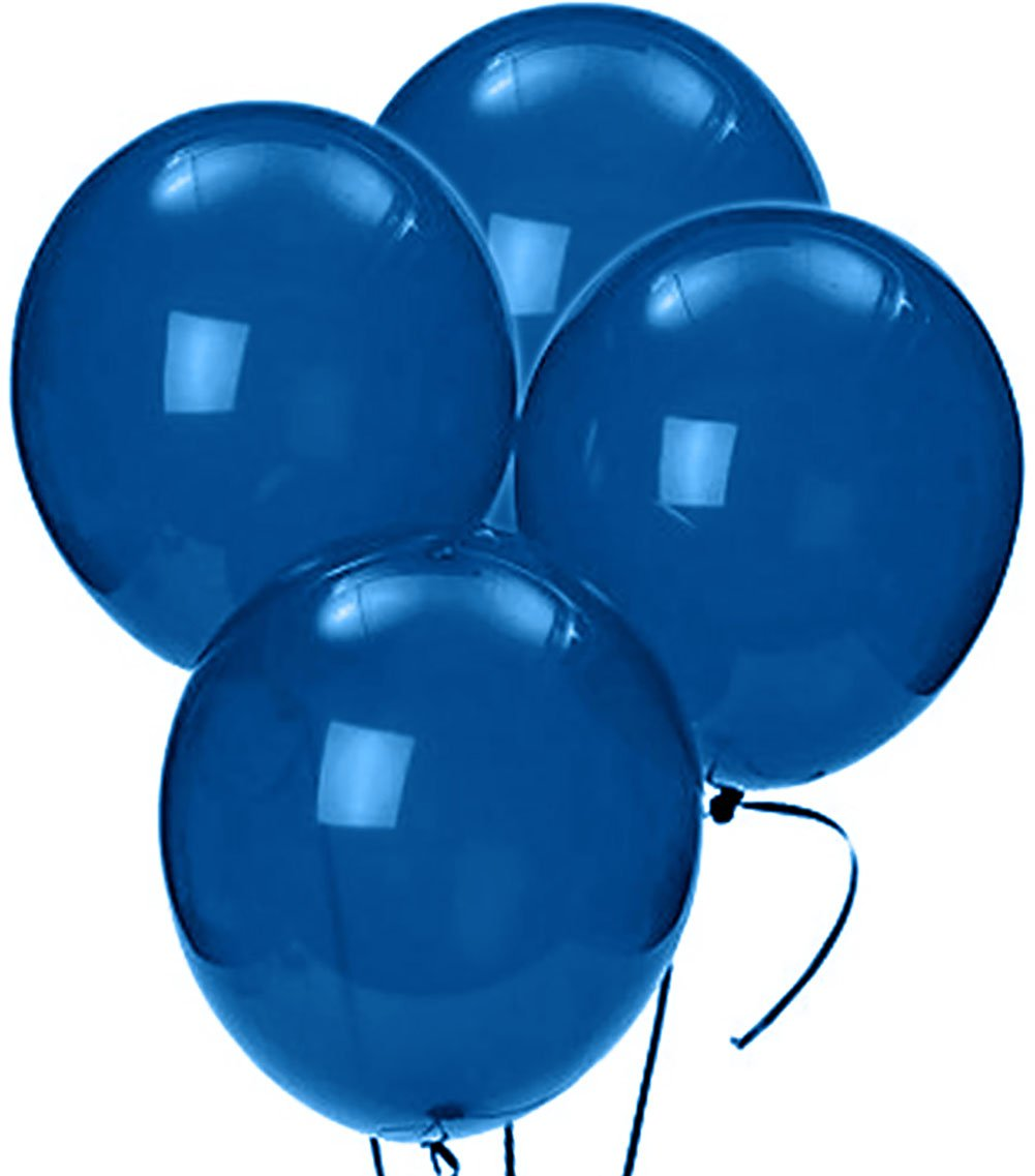 Custom, Fun & Cool {Big Large Size 12'' Inch} 1500 Bulk Pack of Helium & Air Latex Rubber Balloons w/ Modern Simple Celebration Party Special Event Decor Design [In Festive Blue] by mySimple Products