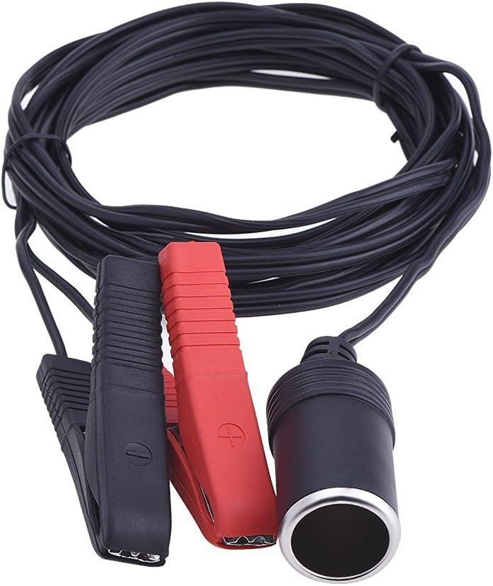 12V/ 24V Batería Mechero Toma del Enchufe Encendedor de Cigarrillo Clip del Coche Adaptador del Zócalo 3.6 m/ 12 pies de Cable de Extensión