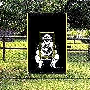 VANTA SPORTS 4'x6' Vinyl Backstop with Strike Zone and Catcher Image for Baseball/Softball, Batting Ca