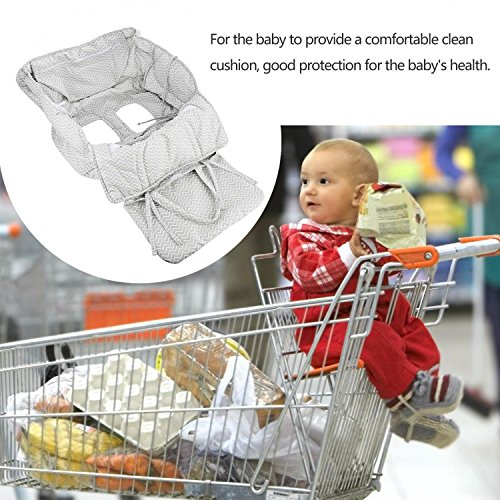 Rampmu Baby Or Toddle Shopping Cart Cover Protective Seat Mat, Portable Grocery Shopping Cart High Chair Seat with Zipper Organizer Bag for Children