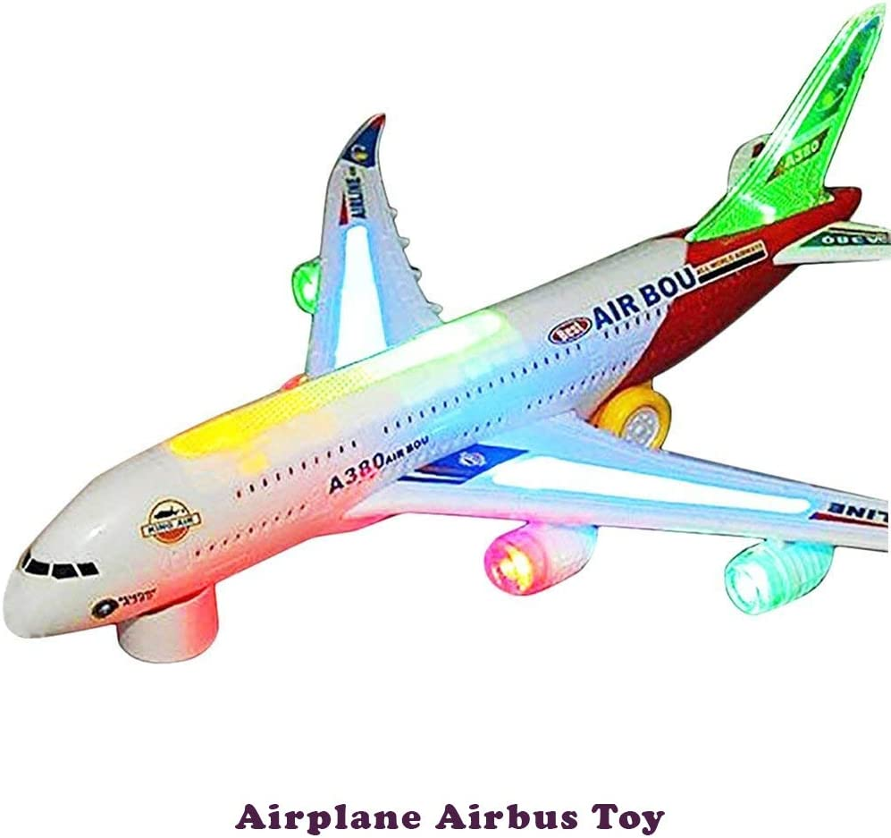 2Pcs Durable Air Bus Airplane Model Toy Pull Back Planes  Kids GiftFB