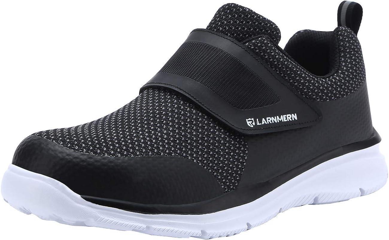 Zapatos de Seguridad Hombres, LM-30 Zapatillas de Trabajo con Punta de Acero Ultra Liviano Reflectivo Transpirable