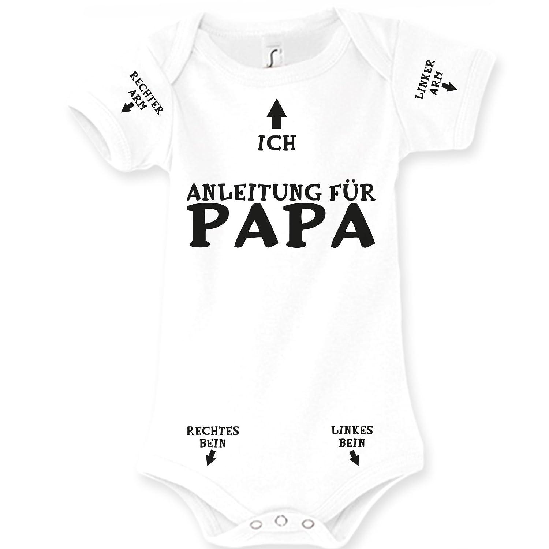75fbcf064 Spruchreif24de Baby Body Strampler Anleitung für Papa Geburt Geschenk:  Amazon.de: Bekleidung