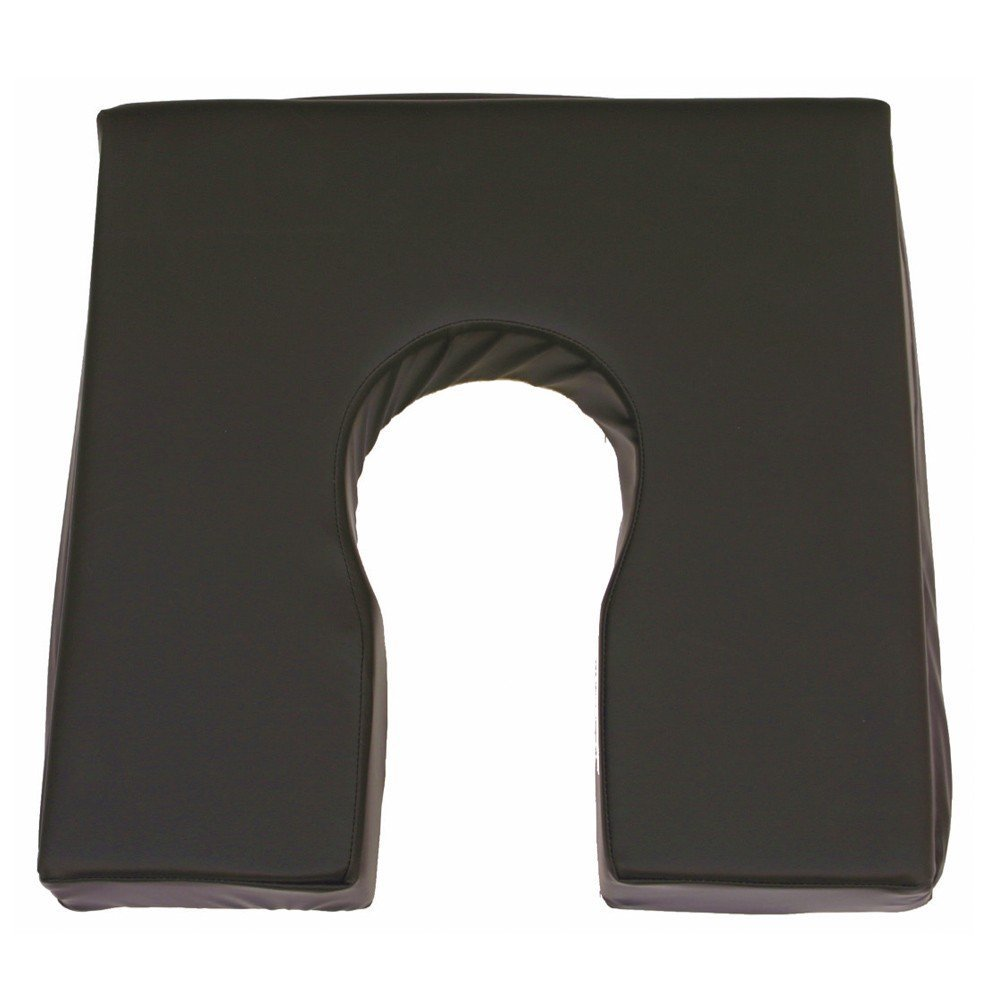 Ortotex - Cojín antiescaras, Fabricado con viscoelástica rosa, Producto Premium, Con forma de herradura, Dimensiones 42 x 42 x 7,5 cm, Se puede lavar