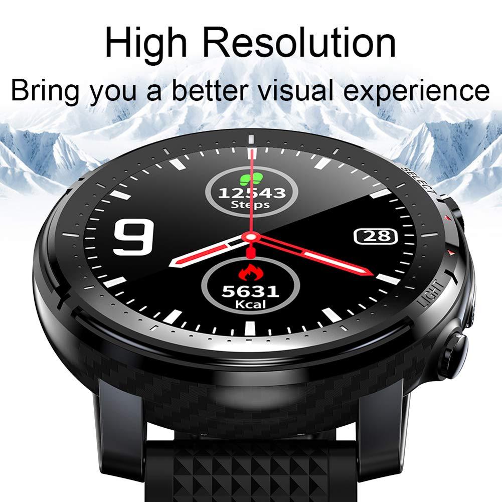 CETLFM Smart klocka för utomhusbruk, vattentät modeklocka med LED-utomhusljus, vuxen andningsbar multi-urtavla, svart Röd