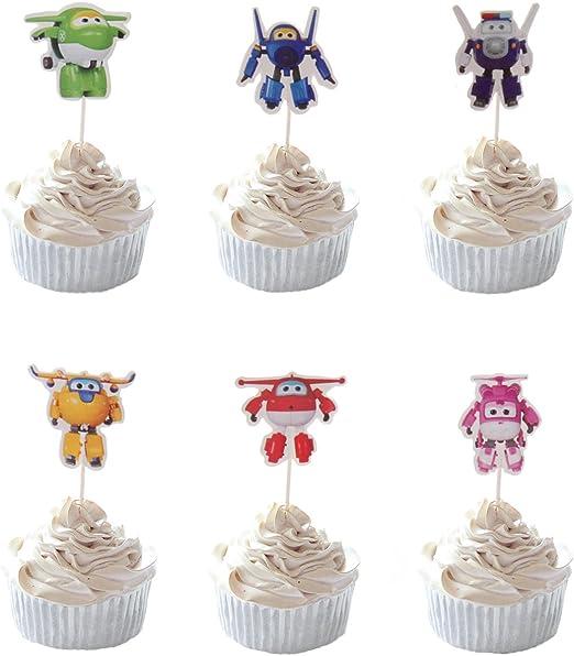 Amazon.com: Fiesta colmena 24pc Super Wing Cupcakes para ...