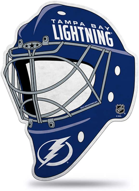 Rico Industries NHL Tampa Bay Lightning Hockey Helmet Die Cut Pennant Décor