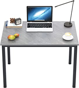 DlandHome 39 inches Small Computer Desk for Home Office Activity Table Writing Table for Small Spaces Study Table Student Laptop Desk (39 inch, Grey)
