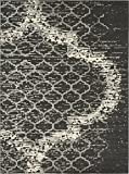 Modern Contemporary Abstract Area Rugs Charcoal Gray 8′ 11 x 12′ Trellis Rug Review