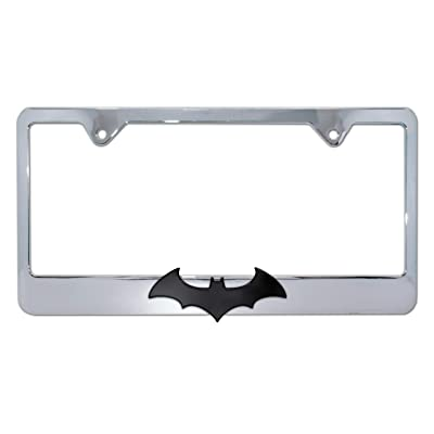 Elektroplate Batman 3D Black Bat Chrome License Plate Frame: Automotive