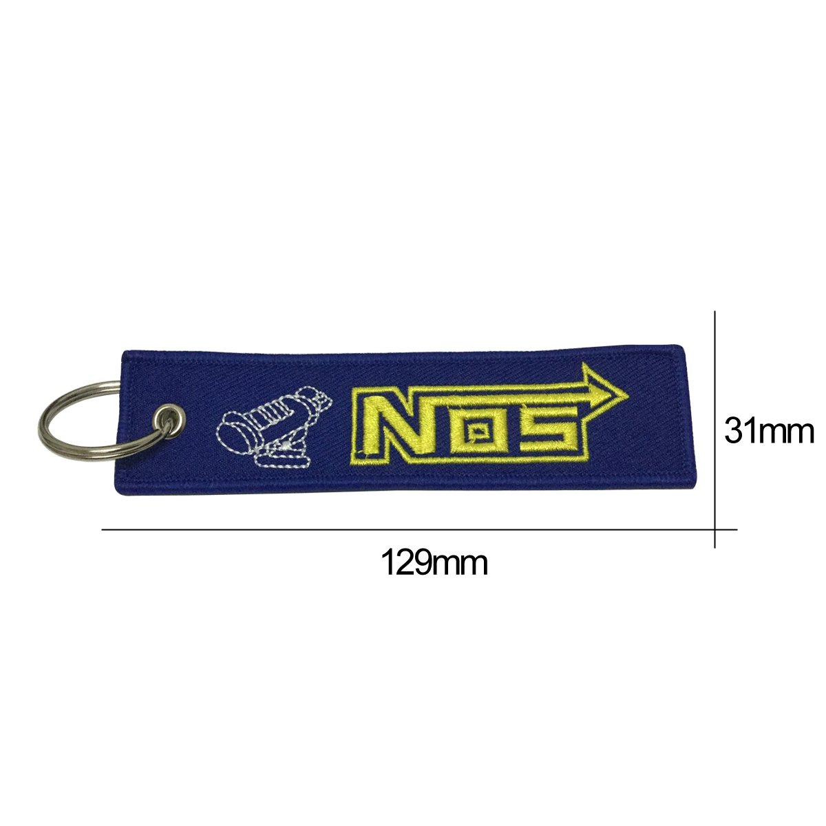 Amazon.com: Nice Tagg 1pcs Blue Color Nos Turbo Tag Keychain Accessories Sporty Gifts: Automotive