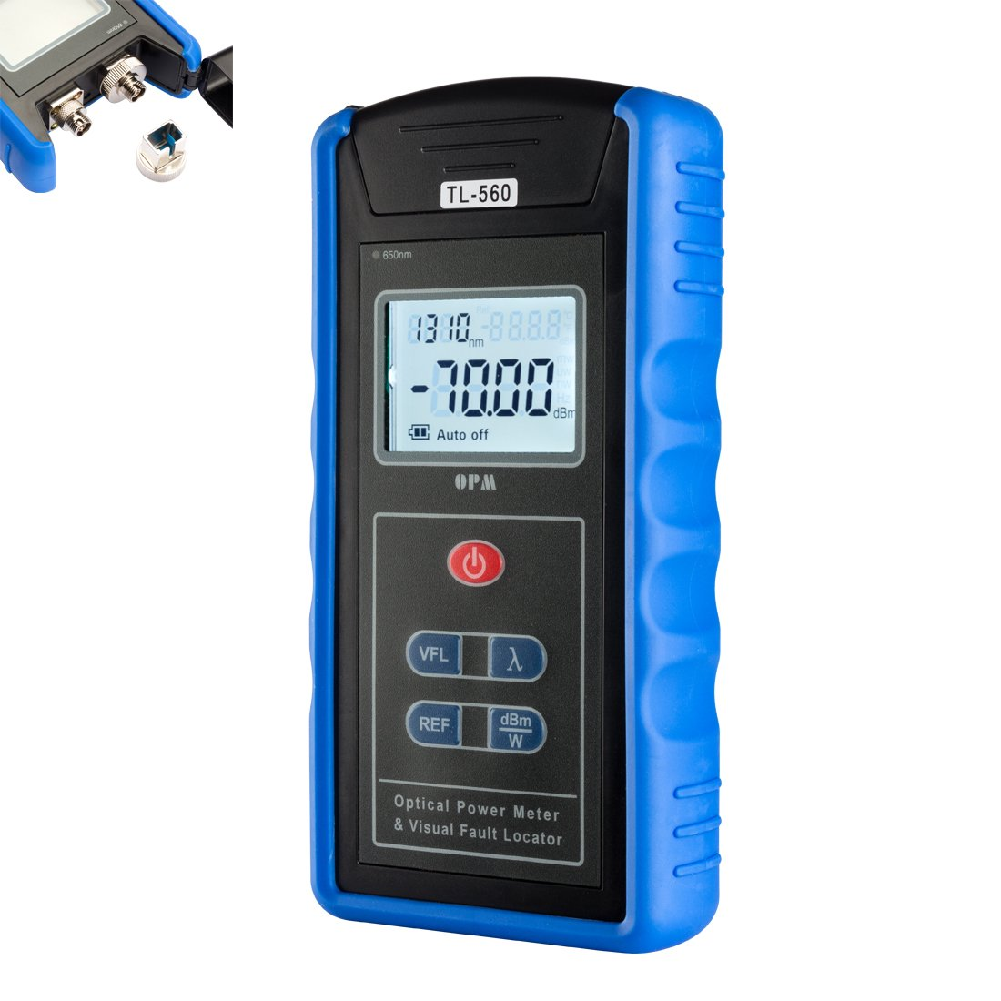 uxcell 5km -70 10 dBm Portable Optical Power Meter Visual Fault Locator SC/FC/ST Interfaces Fiber TL560 for CATV Test CCTV Test and Telecommunication