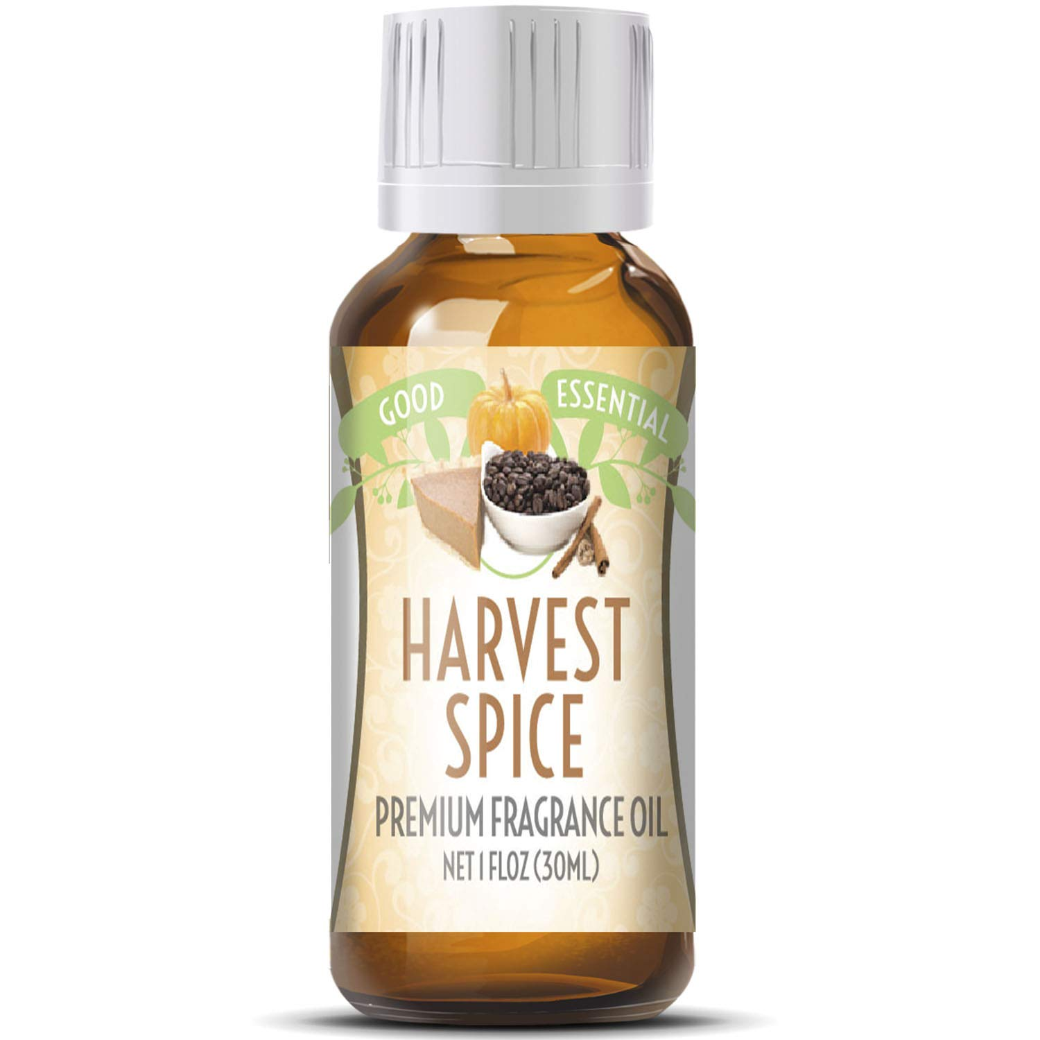 Harvest Spice Scented Oil by Good Essential (Huge 1oz Bottle - Premium Grade Fragrance Oil) - Perfect for Aromatherapy, Soaps, Candles, Slime, Lotions, and More!