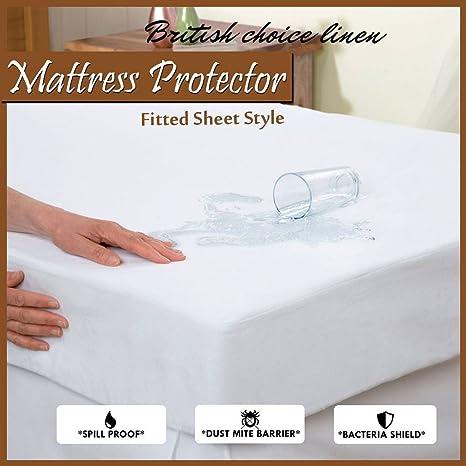 Coprimaterasso Impermeabile Matrimoniale Ikea.British Choice Lino Anallergico Antibatterico Saferest Premium