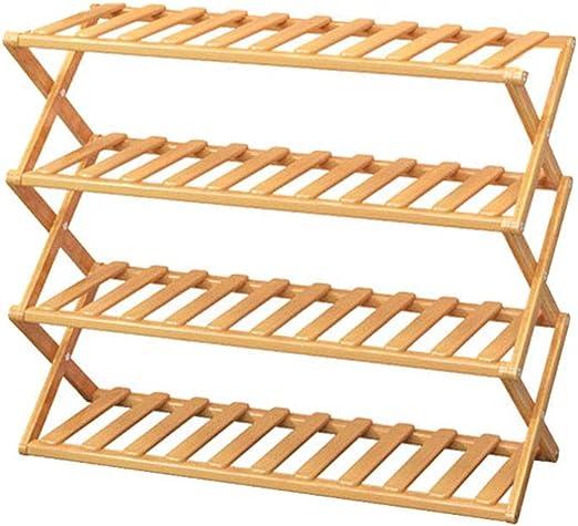 FiedFikt Zapatero plegable de madera para almacenamiento de ...