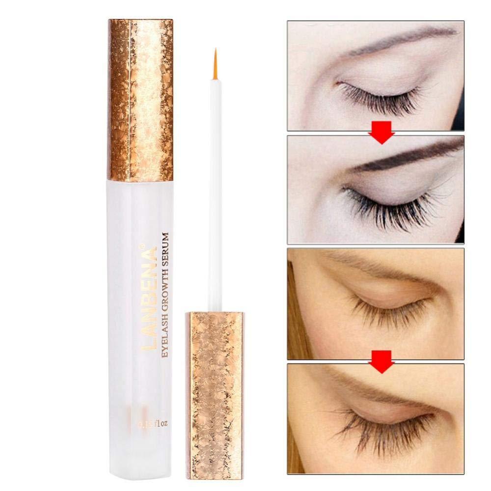 Wimpern Vergrößerer, Natürliches Peitschen Vergrößerungs Öl länger Vollere dickere Curlil Peitschen Wimper Vergrößerer kein Anregung Augen Make up 4.5ml TMISHION
